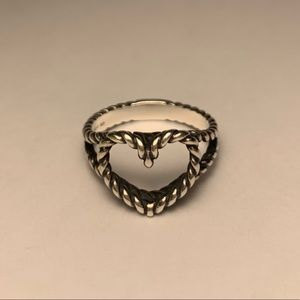 Twisted Wire Heart Ring